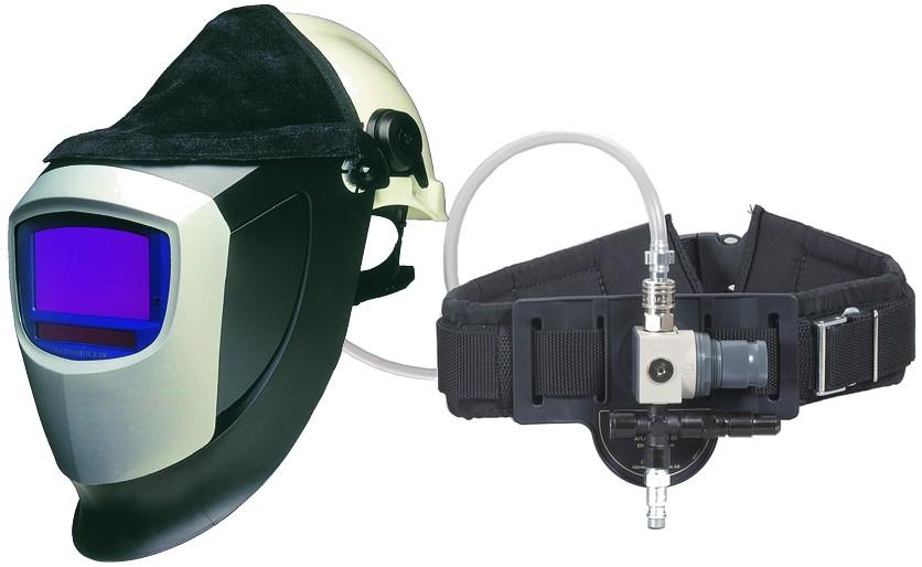 Speedglas 9002X s přilbou a Fresh-air C