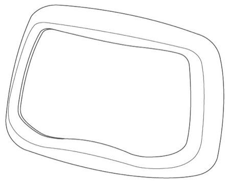 Přední část pro ochranné sklo 9100FX