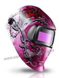 Samozatmívací kukla Speedglas 100V Wild 'n' Pink