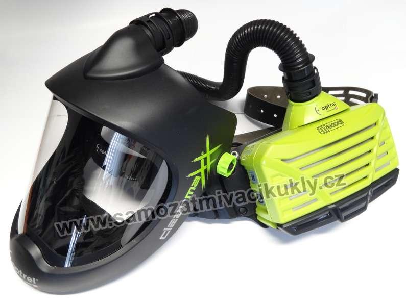 Brusný štít Optrel ClearMaxx + filtrace e3000 Green