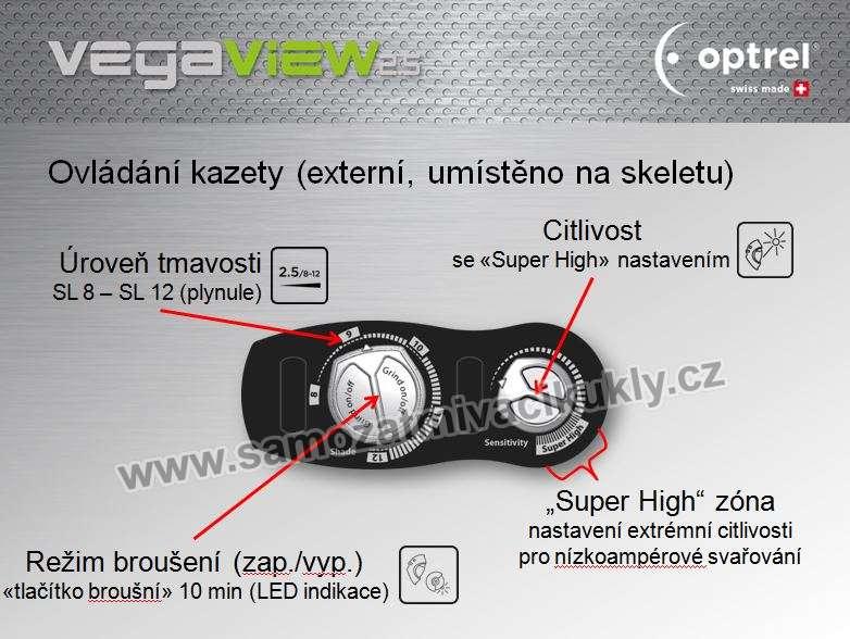 Ovládání kazety Optrel VegaView